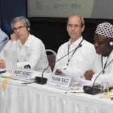 Reyes en la Cumbre antidrogas.