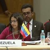 La canciller Delcy Rodríguez asiste en representación de Venezuela.