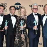 """El elenco de """"Spotlight"""", de izquierda, Billy Crudup, Brian d"""