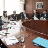 Reunión de la ministra de Transporte, Natalia Abello, con representantes del gremio automotor.