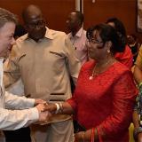 Santos saluda a delegados del Espacio Nacional de Consulta Previa de Comunidades Negras.