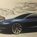 Modelo de Tesla 3 compartido por Musk en su Twitter.