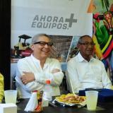 Guillermo Cepeda, de Equinorte; Hugo Illera, Luis De Arco y Mike Fajardo.