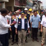 Presidente Santos recorre zonas afectadas en Ecuador tras terremoto