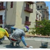 Avanzan obras de mantenimiento en murallas de Cartagena