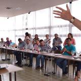 Sergio Jaramillo, en la reunión con ganaderos.