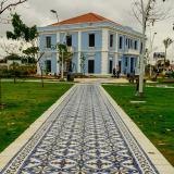 El restaurado edificio de  la Intendecia Fluvial.