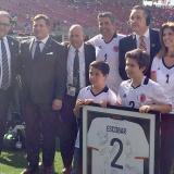 Familiares de Andrés Escobar asistieron al homenaje en el Levi