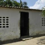 Casa de los abuelos del menor fallecido por inmersión en Palmar de Varela.