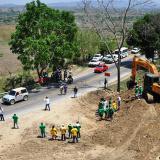 Sector de Sierra Flor donde están paralizadas las obras.