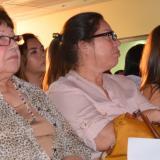 Aída García Márquez, hermana de Gabo, escuchó atenta en primera fila durante el acto en Santa Marta.