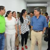 El gobernador Édgar Martínez y los gerentes de las diferentes EPS en el recorrido por el HUS.