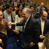 Alejandro Ordóñez despidiéndose de cientos de funcionarios de la Procuraduría.