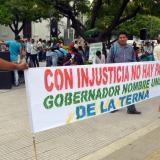Zenúes protestan contra gobernador Besaile