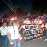 En El Bosque marchan a favor de la paz entre pandillas