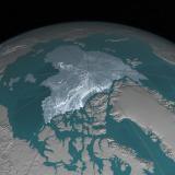 Capa del hielo del Ártico en 2016.