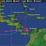 Así avanza la tormenta tropical Otto