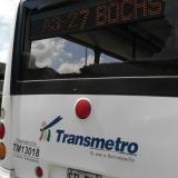 Así quedó la ruta de Transmetro luego del ataque.
