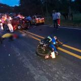 Tres muertos deja triple choque en troncal de occidente en Córdoba