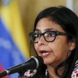 La canciller venezolana, Delcy Rodríguez.