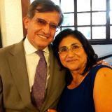 Carlos Marchán y su esposa Marina Usurrieta, desaparecida en el mar.