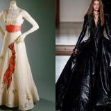 Diseños de las casa de moda Schiaparelli y Julien Fournié.