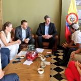Aspecto de la reunión del alcalde Char con los representantes de Tesla.