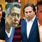 Alan García, Alberto Fujimori, Alejandro Toledo y Ollanta Humala.