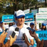 En Montería, David Barguil inicia campamento por liquidación de Electricaribe
