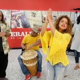 Los integrantes de la compañía artística y teatral Afrolyrics, en EL HERALDO.