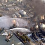 Momentos de la crisis de la plata Nuclear de Fukushima en 2011.