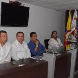 Lenin Vizcaíno, José Ignacio Oñoro, Carlos Rodríguez y Rosmery Jiménez, durante el evento de este jueves.