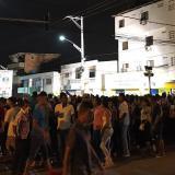 Una multitud de personas llegaron para hacer parte de la celebración.