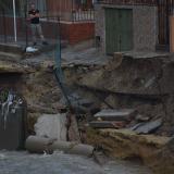 Socavación en canalización de la 21 preocupa a habitantes de San José