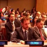 El viceministro del Interior ante las Naciones Unidas.