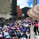 Fecode y trabajadores estatales avanzan en la gran toma a Bogotá