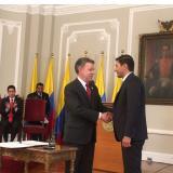 El Presidente de la República, Juan Manuel Santos, posesionó a Jorge Castaño Gutiérrez como nuevo Superintendente Financiero.