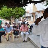"""""""No están solas"""", dice comunidad de Blas de Lezo a víctimas del desplome de edificio"""