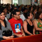 Familiares y seguidores en la eucaristía en la Iglesia Nuestra Señora de Torcoroma.