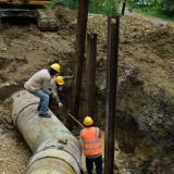 Culminan trabajos de reparación de tubería de agua en planta El Bosque