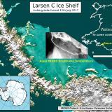 En la Antártida se desprende un iceberg que mide 35 veces el área de Barranquilla