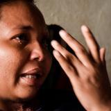 Yarlenis llora por lo que le sucedió y por la difícil situación económica que vive.