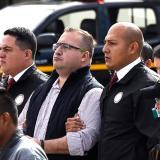 Javier Duarte en el momento de su extradición.