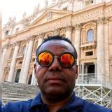 Fidel Bassa publicó varias imágenes de su visita a Roma.