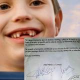 Colegio le certifica al 'Ratón Pérez'  que niño perdió su diente