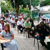 Las autoridades afines durante el acto simbólico de este lunes en la Uniautónoma.