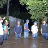 Aspecto de las población inundada