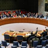 Miembros del Consejo de Seguridad de la ONU votan por las sanciones contra Corea del Norte.