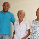Tres generaciones: Edilsa, Tranquilina y Evaristo.