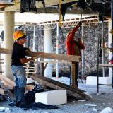 Trabajadores del sector de la construcción en la región Caribe.